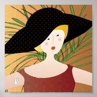 Los gorras de las mujeres Brimmed el poster