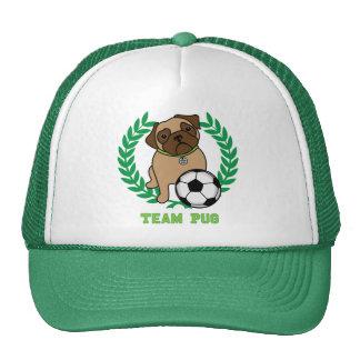 Los gorras del barro amasado del fútbol (verdes) c