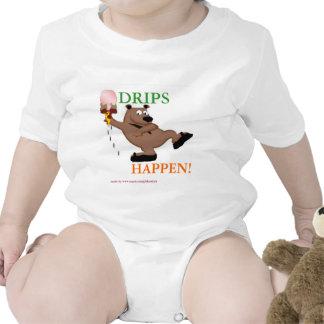 Los goteos suceden camiseta del niño del helado