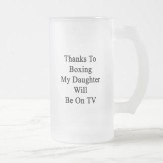 Los gracias a encajonar a mi hija estarán en la TV Taza Cristal Mate