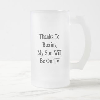 Los gracias a encajonar a mi hijo estarán en la TV Taza Cristal Mate