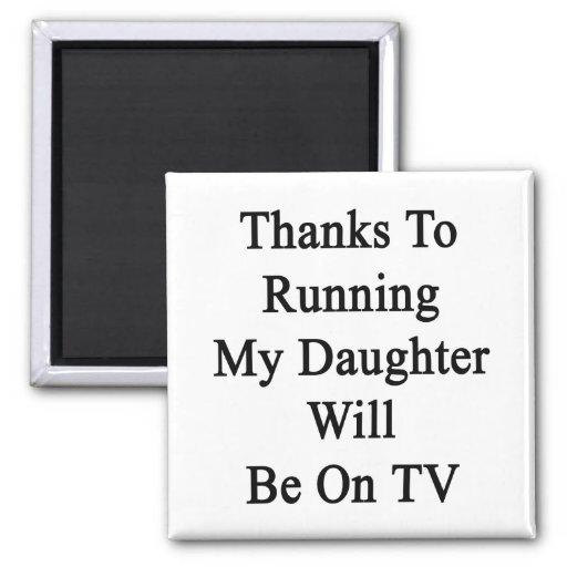 Los gracias a funcionar con a mi hija estarán en l imán para frigorífico