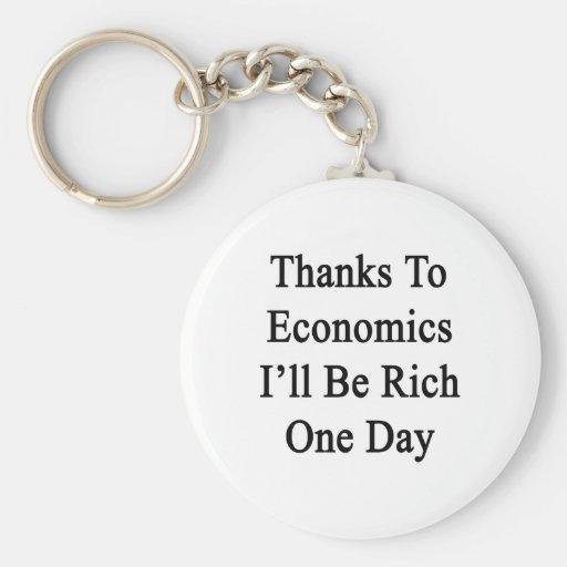 Los gracias a la economía seré un día rico llavero redondo tipo pin