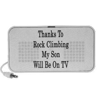 Los gracias a la escalada mi hijo estarán en la TV Laptop Altavoz