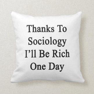 Los gracias a la sociología seré un día rico cojines
