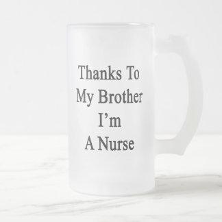 Los gracias a mi Brother soy enfermera Tazas De Café