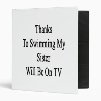 Los gracias a nadar a mi hermana estarán en la TV