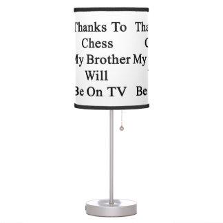 Los gracias al ajedrez mi Brother estarán en la TV