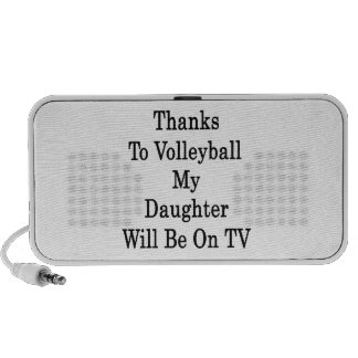 Los gracias al voleibol mi hija estarán en la TV iPhone Altavoz