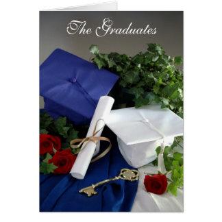 Los graduados tarjeta de felicitación
