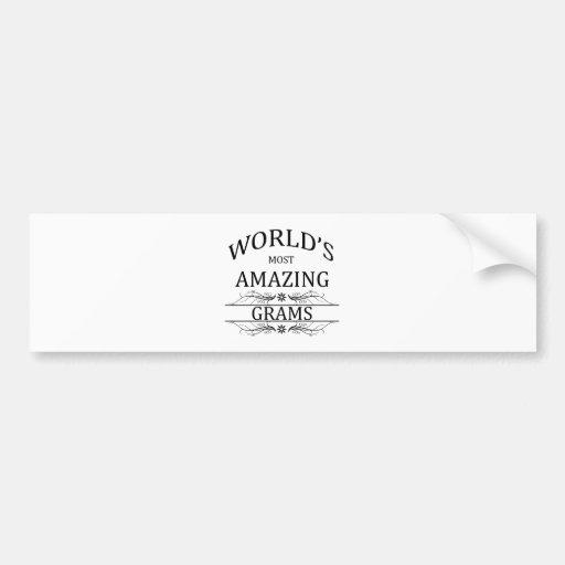 Los gramos más asombrosos del mundo pegatina de parachoque