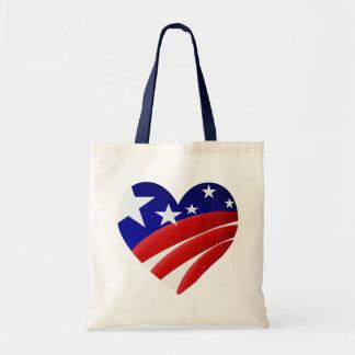 Los grandes bolsos americanos del corazón bolsa de mano