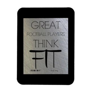 Los grandes futbolistas piensan el ajuste - acero imanes rectangulares
