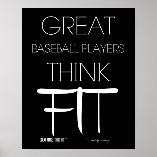 Los grandes jugadores de béisbol piensan el ajuste impresiones