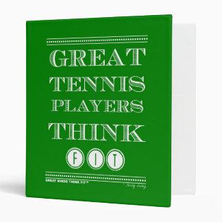 Los grandes jugadores de tenis piensan la carpeta