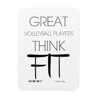 Los grandes jugadores de voleibol piensan el ajust imán