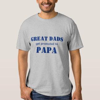 Los grandes papás consiguen promovidos a la polera
