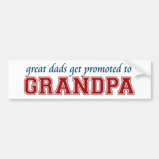 Los grandes papás consiguen promovidos al abuelo pegatina de parachoque