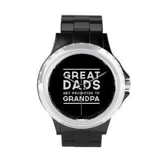 Los grandes papás consiguen promovidos al abuelo relojes de mano