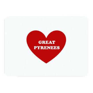 """Los grandes Pirineos Invitación 5"""" X 7"""""""