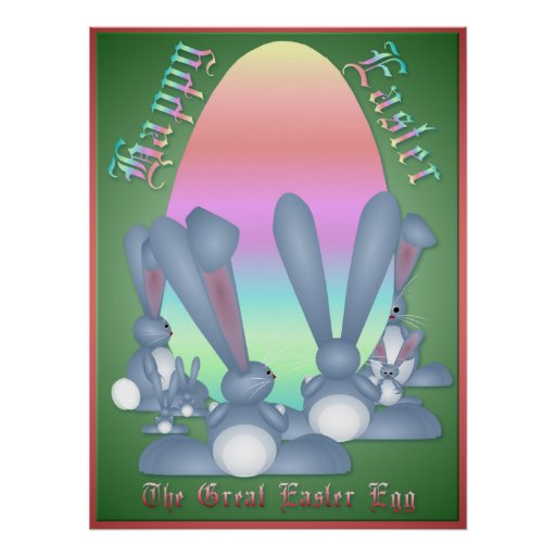 Los grandes posters del huevo de Pascua Póster