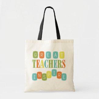 Los grandes profesores inspiran bolsas lienzo