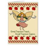 Los grandes profesores inspiran felicitacion