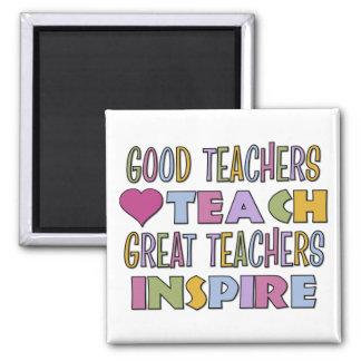Los grandes profesores inspiran imán