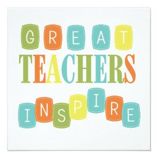 """Los grandes profesores inspiran invitación 5.25"""" x 5.25"""""""