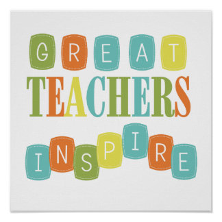 Los grandes profesores inspiran posters