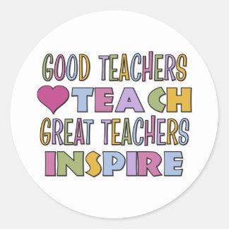 Los grandes profesores inspiran pegatina redonda