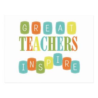 Los grandes profesores inspiran postal