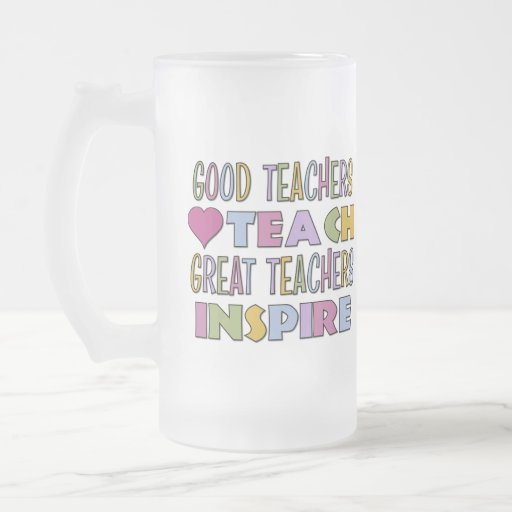 Los grandes profesores inspiran taza cristal mate