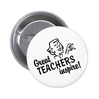 Los grandes profesores retros inspiran el botón