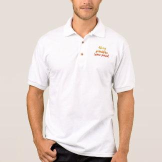 Los Grandkids tienen camisa del golf de las patas