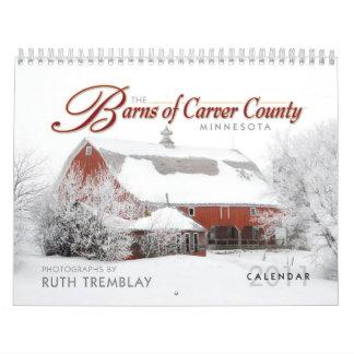 """""""Los graneros del calendario del condado de Carver"""
