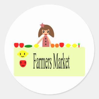 Los granjeros comercializan 2,0 51Z Pegatina Redonda