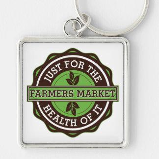 Los granjeros comercializan apenas para la salud d llavero personalizado