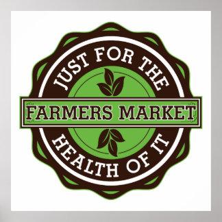 Los granjeros comercializan apenas para la salud d póster