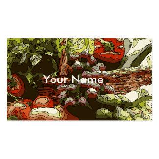 Los granjeros comercializan las frutas y verduras tarjetas de visita