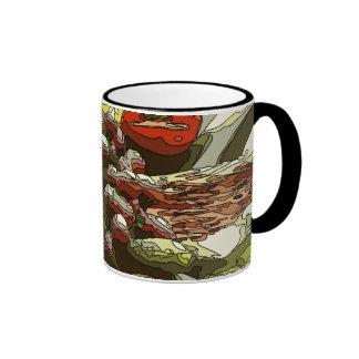 Los granjeros comercializan las frutas y verduras tazas de café