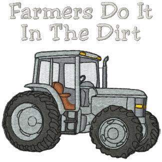Los granjeros lo hacen en la camisa bordada sucied sudadera con capucha
