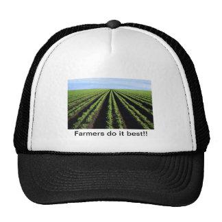 Los granjeros lo hacen mejor, gorras de camionero