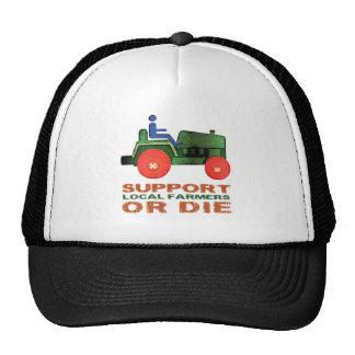 Los granjeros locales de la ayuda o mueren gorras de camionero