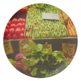 Los granjeros producen el mercado de lugar de Pike Platos De Comidas