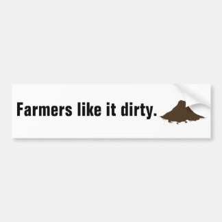 Los granjeros tienen gusto de él sucio pegatina para auto