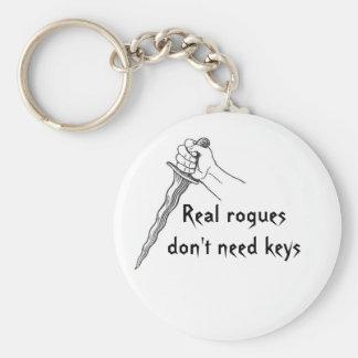 Los granujas reales no necesitan llaves llaveros