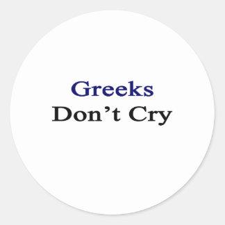 Los Griegos no lloran Pegatina Redonda
