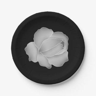 Los gris plateados elegantes subió en negro o