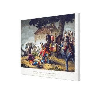 Los guardias de caballo en la batalla de Waterloo, Impresión En Lona